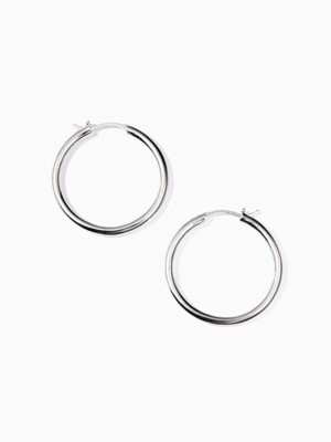 Simple round earring L