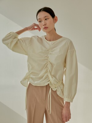 19S STRING BLOUSE (CREAM)
