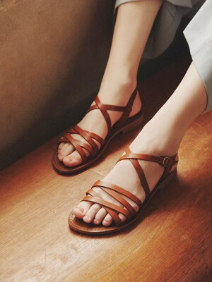 TWISTED STRAP SANDAL_NATURAL BONE