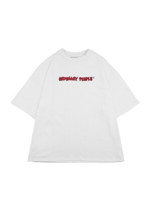 ordinary people logo white t-shirt