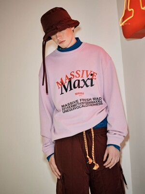 'MAXI' Printed Sweatshirt Purple (Genderless)