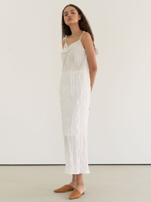 Resort wrinkle dress - white