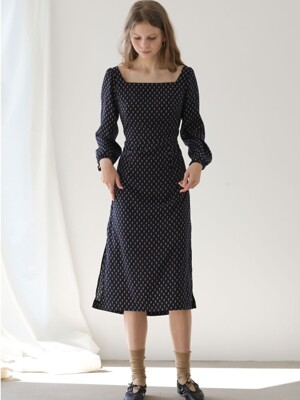 4.14 BARLEY DRESS_NAVY