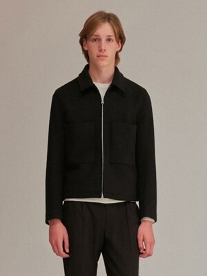 WOOL JACKET MEN [BLACK]