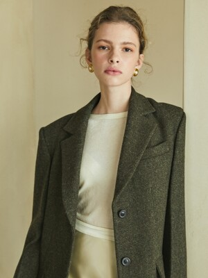 wool overfit jacket (khaki)