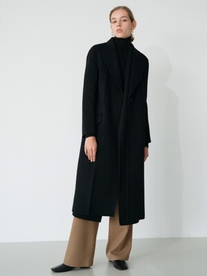 handmade muffler coat (black)
