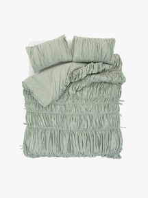 big waves duvet cover - mint
