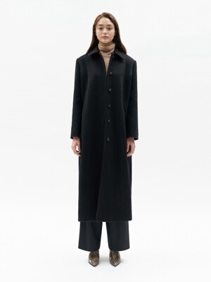 LONG MAC COAT WOMEN [BLACK]