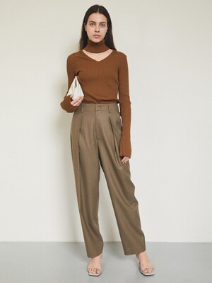 DAILORING WOOL SLACKS [KHAKI]