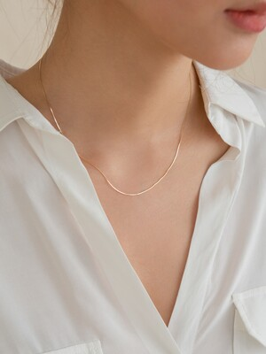 14k gold chain choker silk necklace (14k 골드)(3type)