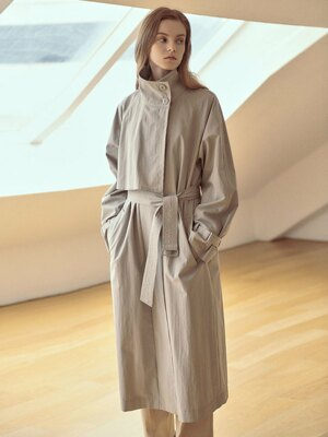 High Band Collar Trench Coat SW1SR101-46