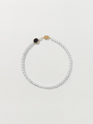 SUZANNE Pearl Necklace - Pearl White