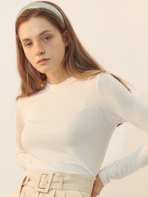 [BREEZE] Slim Long Sleeve T-Shirts_WHITE (CTD1)