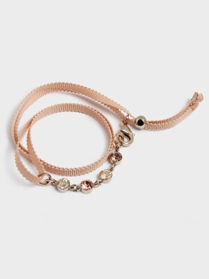 STLIGHT RIBBON BRACELET (beige)