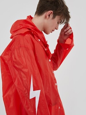 PULLING RAIN LONG COAT RED