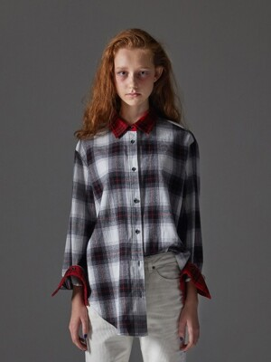 Multicolor Mixed Check Shirt_Ivory
