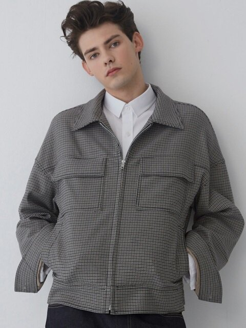 M#1643 oversized erick jacket (check)
