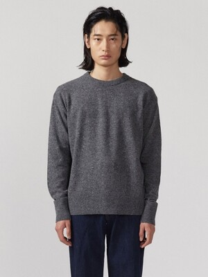 pullover round knit in grey