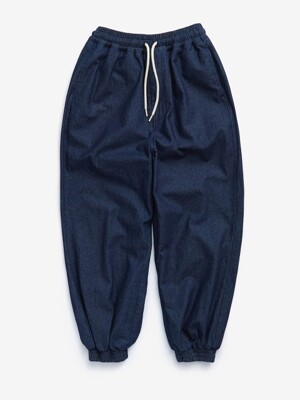 DENIM WIDE JOGGER (INDIGO)