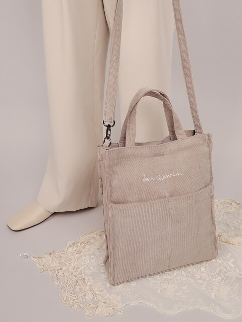 corduroy mini bag_beige