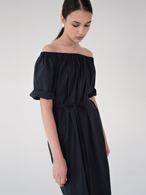 back string dress (navy)