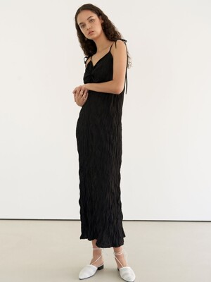 Resort wrinkle dress - black