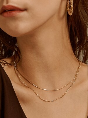 two lines chain necklace