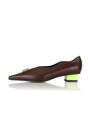 Cassie flat shoes / 19AW-F085 Oak+Lime