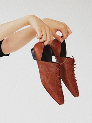 Corset loafer brown