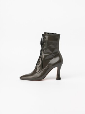 Brenda Lace-up Boots in Grey