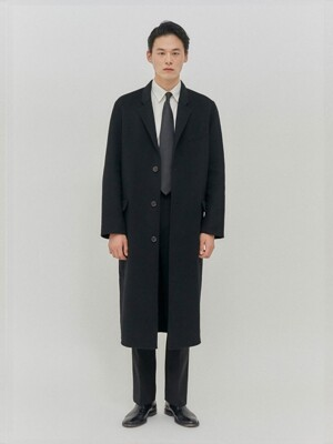 Adolph Hand Made Wool Coat Black