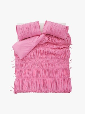 big waves duvet cover - pink