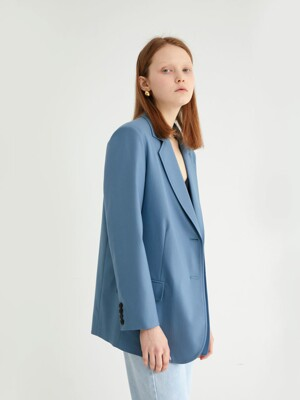 20' SPRING_Vintage Blue Single-Breasted Jacket