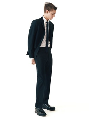 Lightweight Slim-fit Italian Fabric Suit Jacket +  Straight  Trousers SET__3color