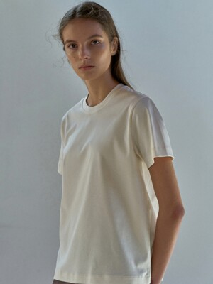 Heavyweight cotton t-shirt (Cream)