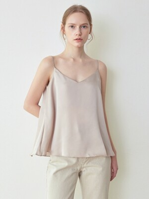 SHINE FLARE TOP_BEIGE GRAY