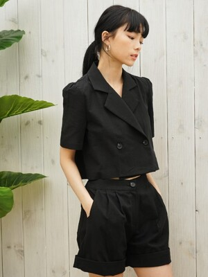 TO2-LINEN JACKET SHIRT BLACK