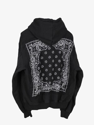 VINTAGE BANDANA ZIP-UP - BLACK
