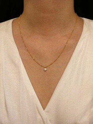 [단독]simple dot chain pearl