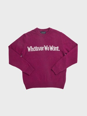WHATEVERWEWANT CASHMERE KNIT [VIOLET]