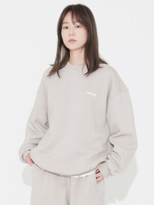 Signature Logo Crewneck Light Grey