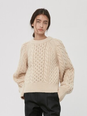CROPPED CREWNECK SWEATER (JTJN102-05)