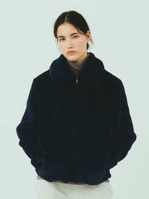 BENSIMON FUR JACKET - NAVY