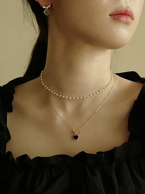 [단독]Lovable Pearl Necklace S  (3COLOR)