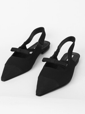 X bow slingback - black
