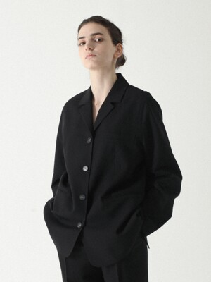 Balloon Single Jacket Black