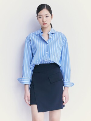 Unbalance Mini Skirt  Navy (KE1227M01R)