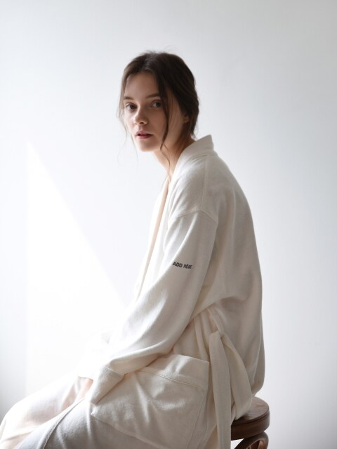 W Terry Lounge & Bath Robe _ Ivory