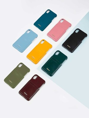 LEATHER IPHONE X/XS CARD CASE (6 COLOR)