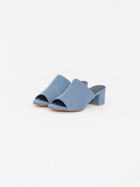 50mm Swinton Light Blue Denim Slides (Blue)